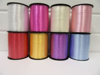 2 metres or full roll 5mm Ivory Curling Florist Balloon Ribbon Double sided 5mm